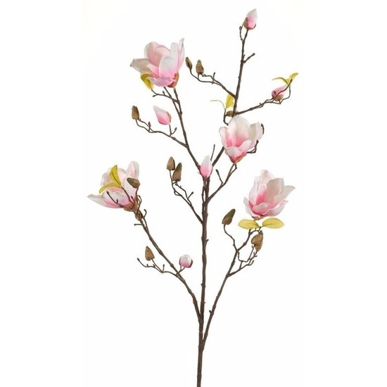 Kunst Magnolia tak 105 cm roze