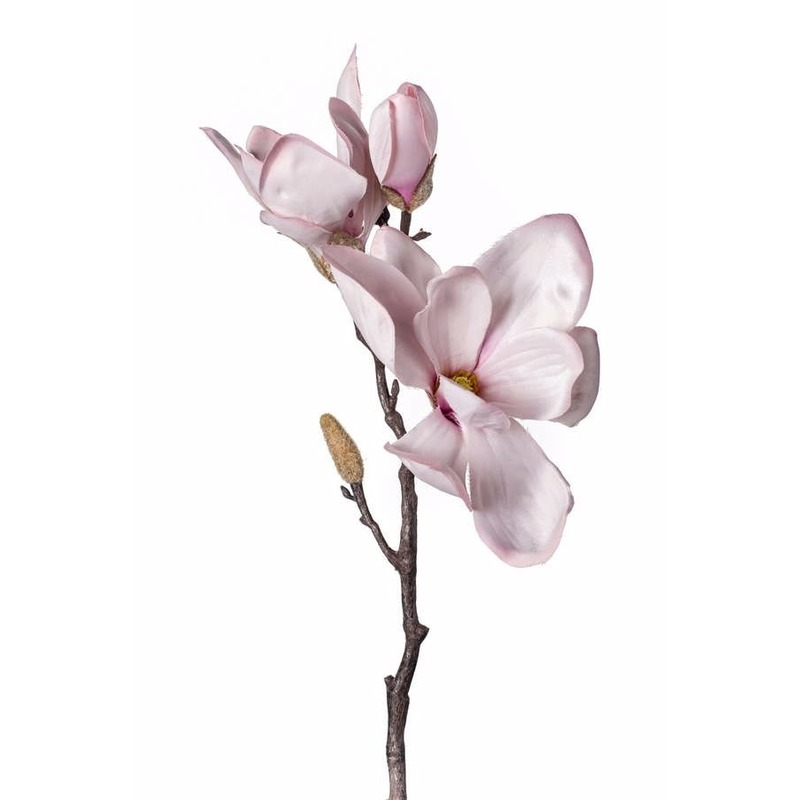 Kunst Magnolia tak 38 cm roze
