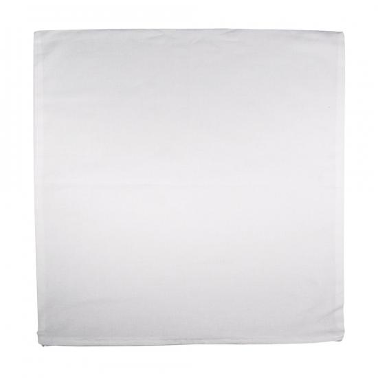 Kussenhoes wit met ritssluiting 50 x 50 cm