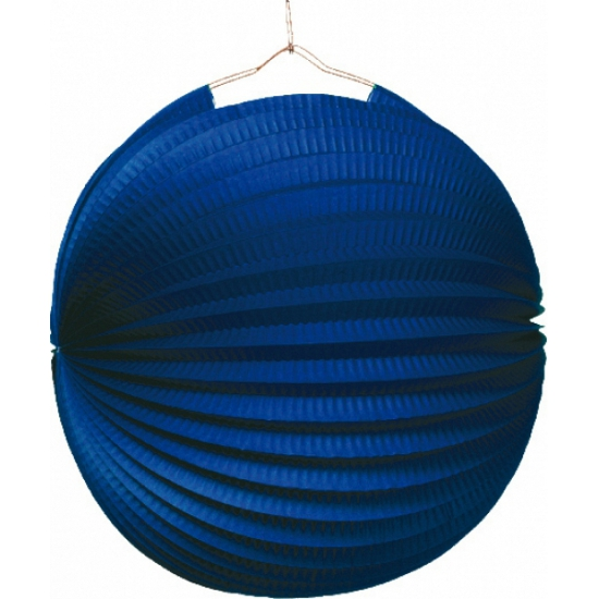 Blauwe lampionnen papier