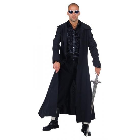 Lange jas zwart Matrix