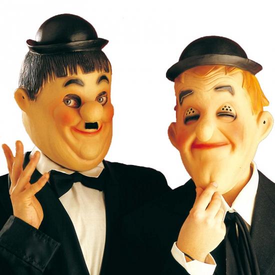 Laurel en Hardy maskers