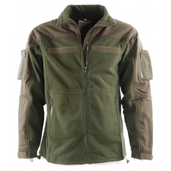 Legergroen fleece jacket voor heren