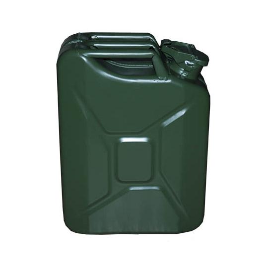 Legergroene jerrycan 20 liter