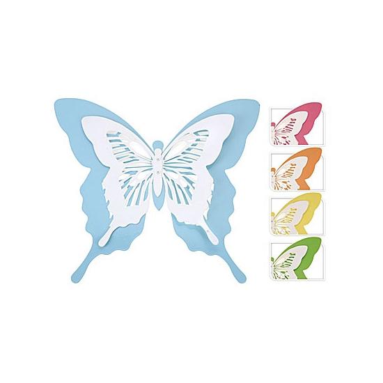 Licht gekleurde metalen vlinder 39 cm