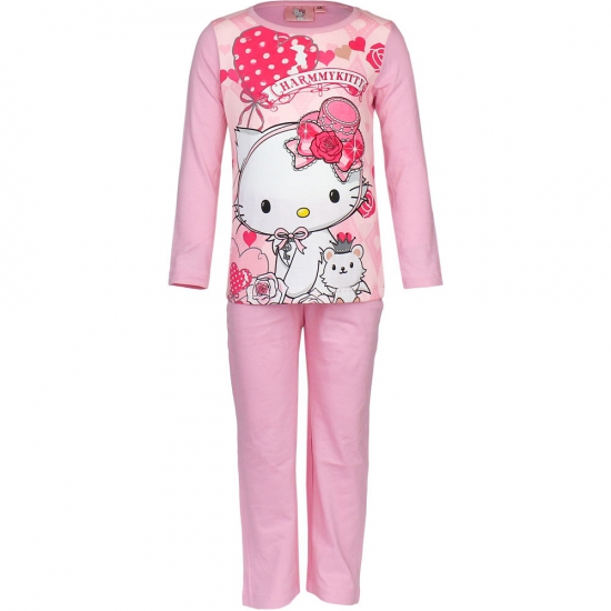 Licht roze kinder pyjama Hello Kitty