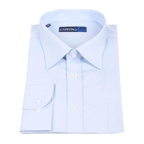 Lichtblauwe maatpak overhemd