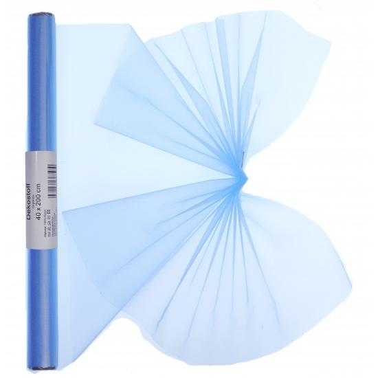 Lichtblauwe organza op rol 40 x 200 cm