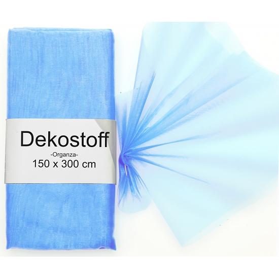Lichtblauwe organza stoffen 150 x 300 cm