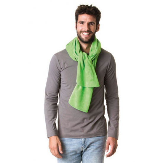 Winter sjaals fleece lime groen