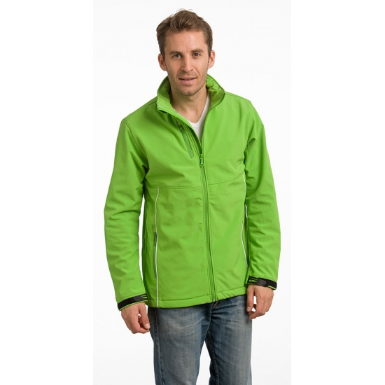 Lime softshell herenjack