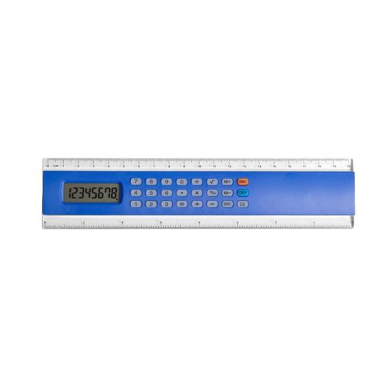Liniaal calculator blauw