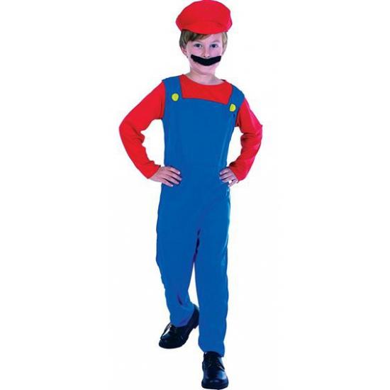 Loodgieter Mario kostuum voor kinderen