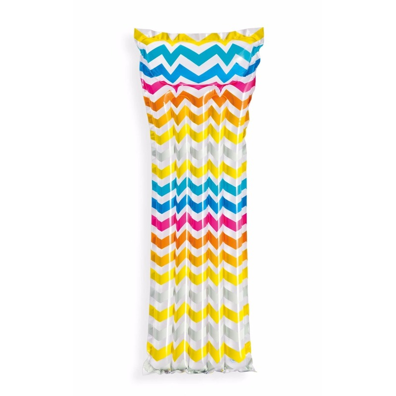 Luchtbed zigzag print 183 cm
