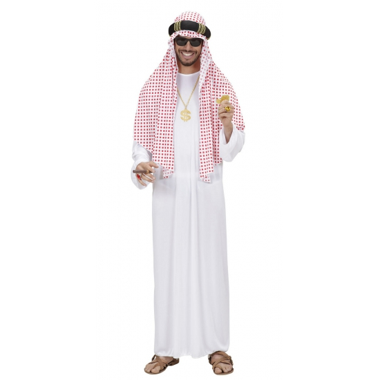 Luxe Arabische sjeik kostuum voor heren
