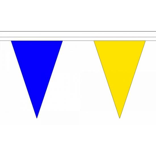 Luxe blauw met gele vlaggenlijn 20 meter