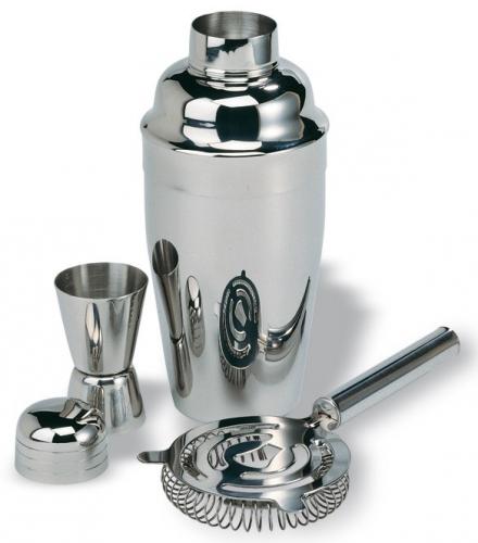 Luxe cocktail shaker set van metaal