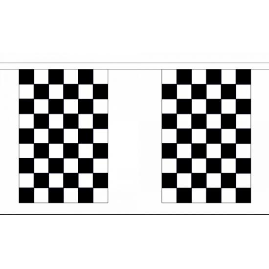 Finish vlaggenlijn rechthoekig