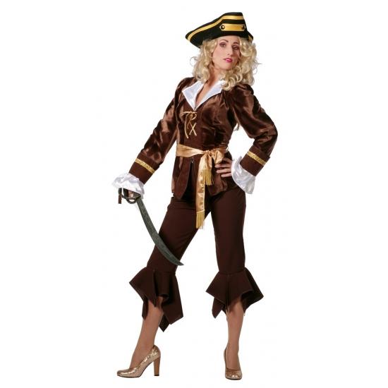 Bruine piraten kostuum dames