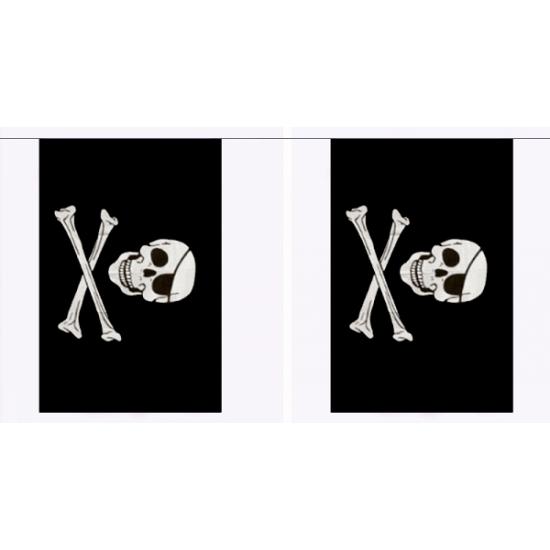 Piraten vlaggenlijn rechthoekig