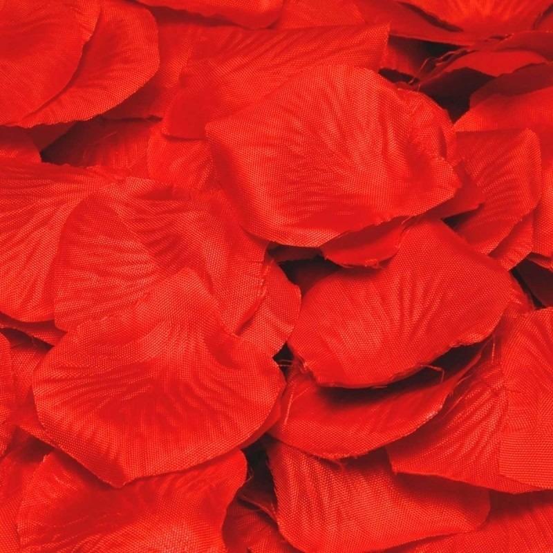 14aantal 4 rode rozenblaadjes