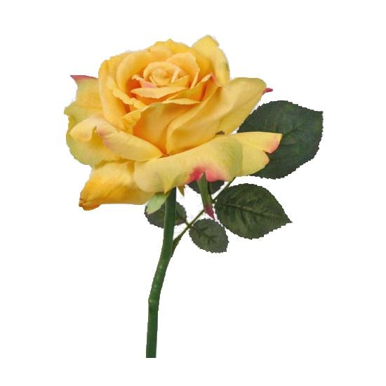 Luxe roos 31 cm geel