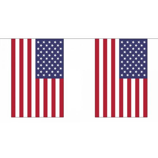 Usa vlaggenlijn rechthoekig