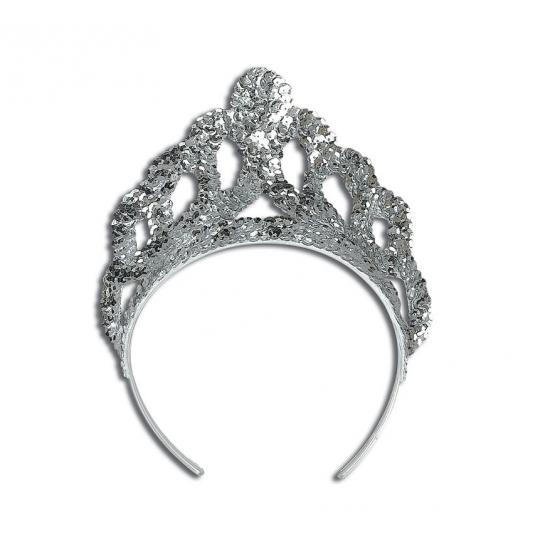 Zilveren prinsessen tiara