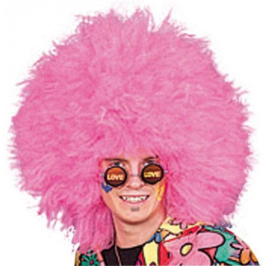 Mega grote roze afropruik