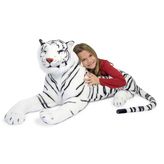 Mega witte tijger knuffel 170 cm