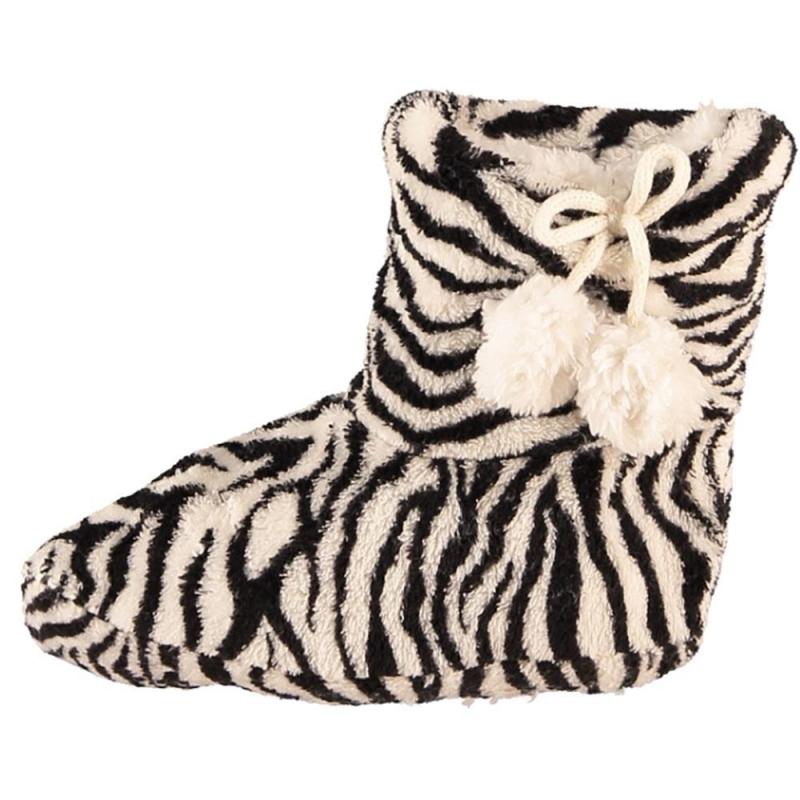 Meisjes sloffen met zebra print