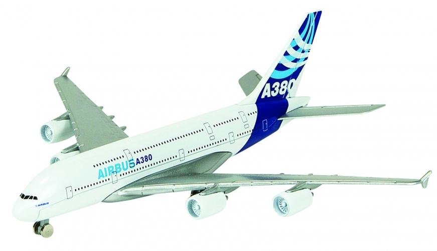 Metalen Airbus A380 vliegtuig