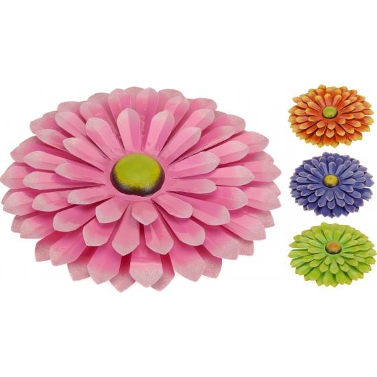 Metalen decoratie bloem 34 cm