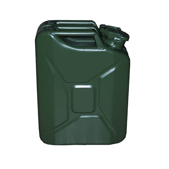 Metalen jerrycan legergroen 20 liter
