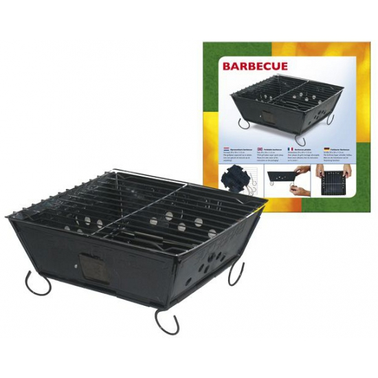 Metalen opvouwbare barbecue 24 cm