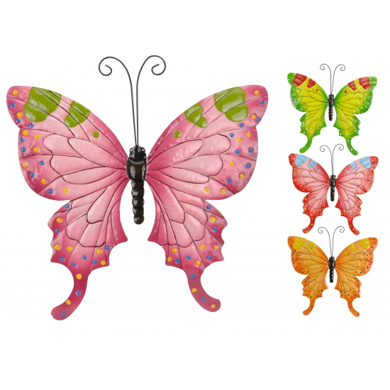 Metalen vlinder voor in de tuin 34 cm