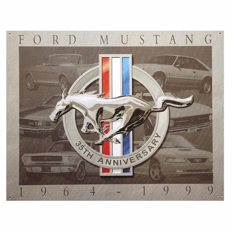 Metalen wandplaat Ford Mustang 32 x 41 cm