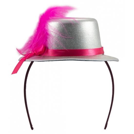 Metallic zilver mini hoedje