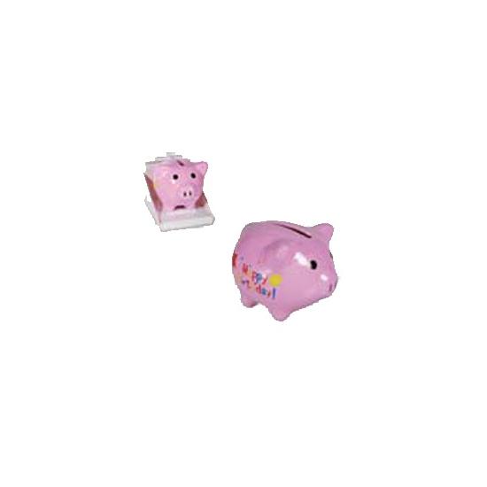 Mini spaarvarken Happy Birthday