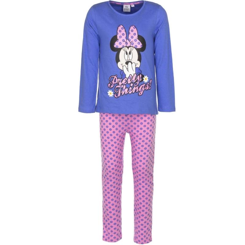 Minnie Mouse pyjama paars voor meiden