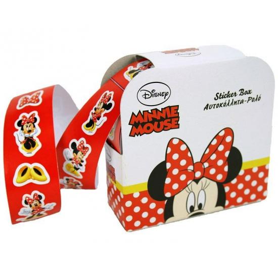 Minnie Mouse stickers op rolletje 150 stuks