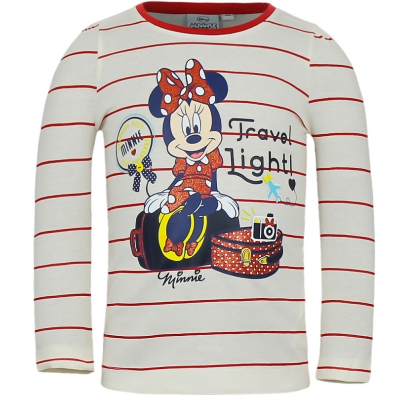 Minnie Mouse t shirt wit/rood voor meisjes