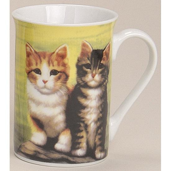 Mok met lieve katten groen 10 cm