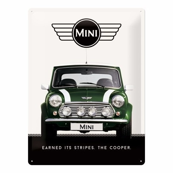 Muurplaatje Mini Cooper