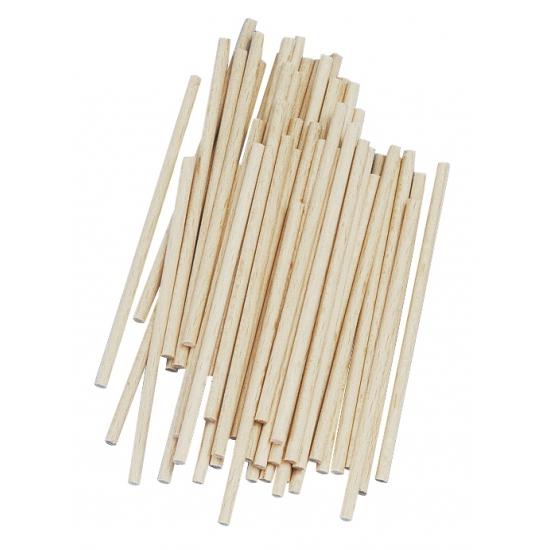 Naturel houten knutsel stokjes 10 cm