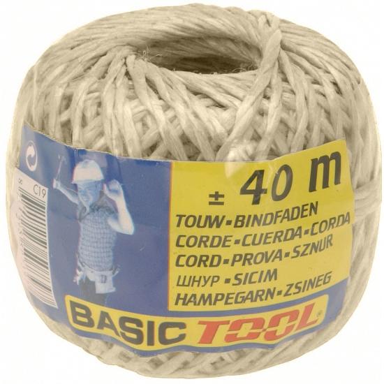 Naturel touw op rol 40 meter