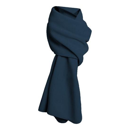Winter sjaals fleece navy blauw