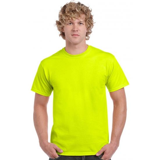 Neon gele shirts volwassenen