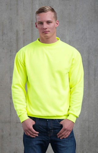 Neon gele sweater voor heren Just Hoods