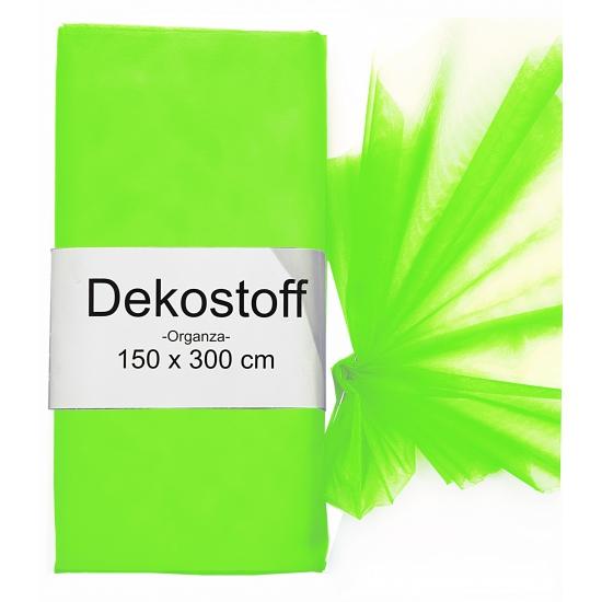Neon groene organza stoffen 150 x 300 cm
